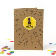 Bettie Confetti '1 In A Million' Card